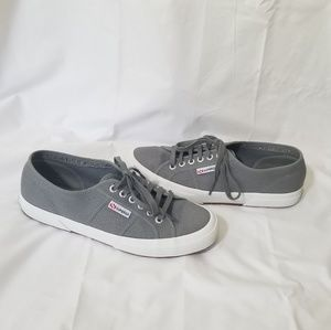 Superga Shoes - Superga size 9.5 gray/white